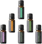 Aromatherapy Top 6 100% Pure Therapeutic Grade Basic Sampler Essential Oils