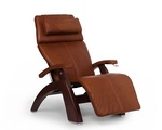 "Perfect Chair ""PC-420"" Premium Full Grain Leather Hand-Crafted Zero-Gravity Chestnut Manual Recliner"