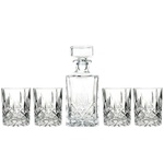 Marquis by Waterford Decanter Set with 4 Double Old Fashioned Glasses