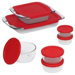 Pyrex 14 Piece Easy Grab Glass Bakeware and Food Storage Set